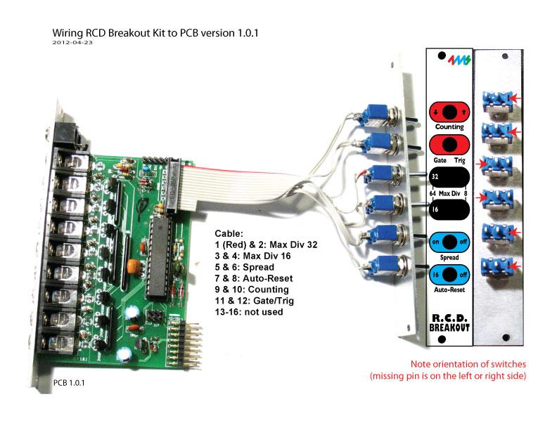 RCD PCB 1.0.1 wiring to RCDBO